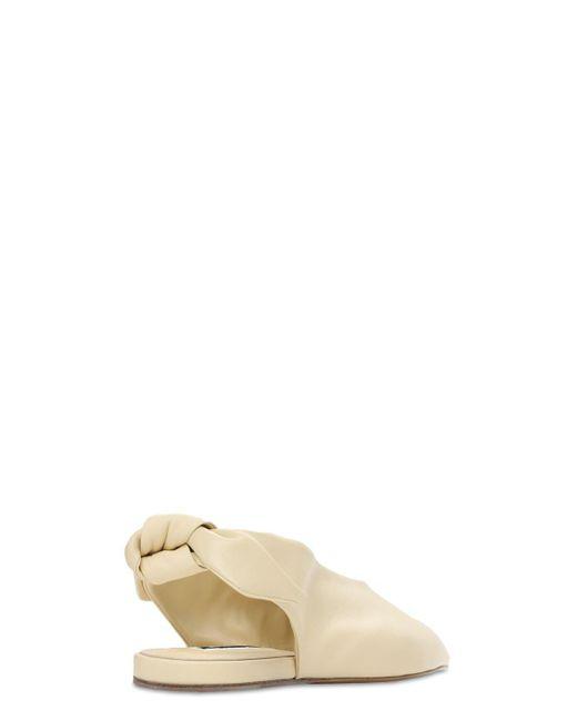 Jil Sander レザーバレリーナ 10mm Multicolor