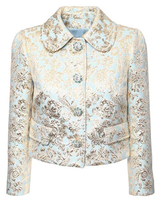 Dolce & Gabbana ジャカードラメクロップドジャケット Multicolor