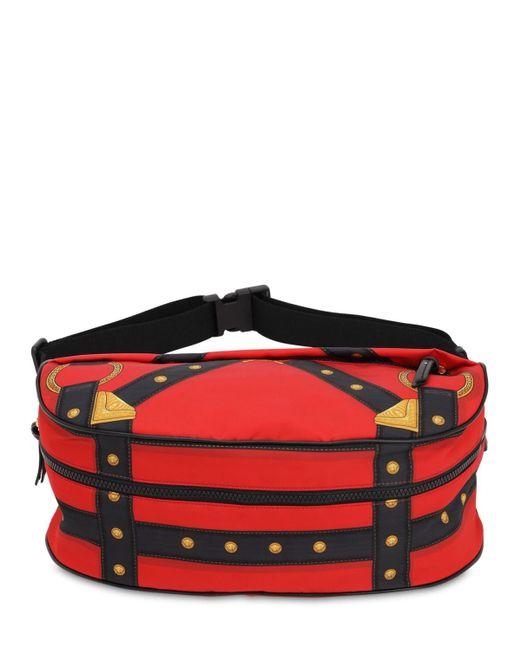 Сумка На Пояс Из Нейлона Versace для него, цвет: Red
