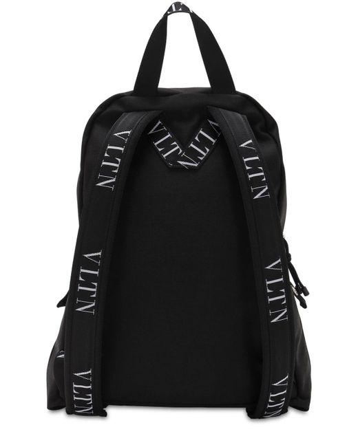 メンズ Valentino ナイロンバックパック Black