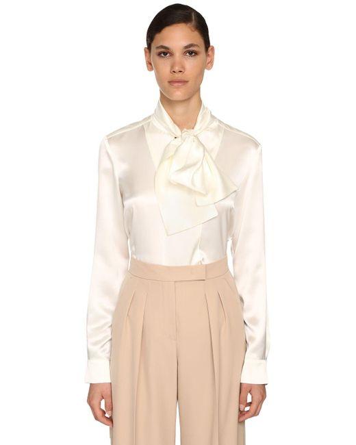 Max Mara シルクサテンシャツ White