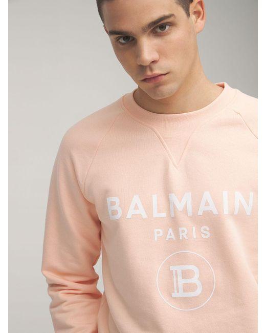 メンズ Balmain コットンジャージースウェットシャツ Orange