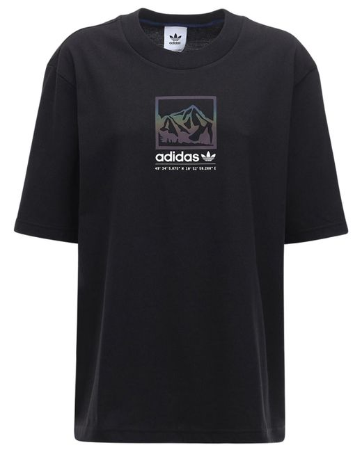 Adidas Originals Adiplore オーバーサイズグラフィックtシャツ Black