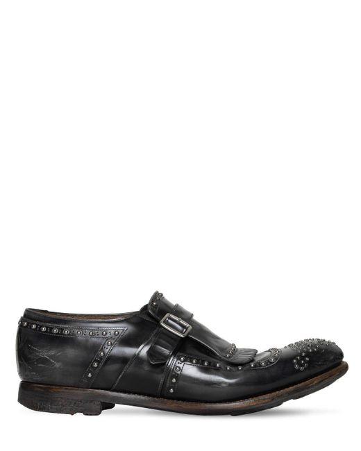 """Zapatos """"shanghai"""" De Piel Pulida Church's de hombre de color Gray"""