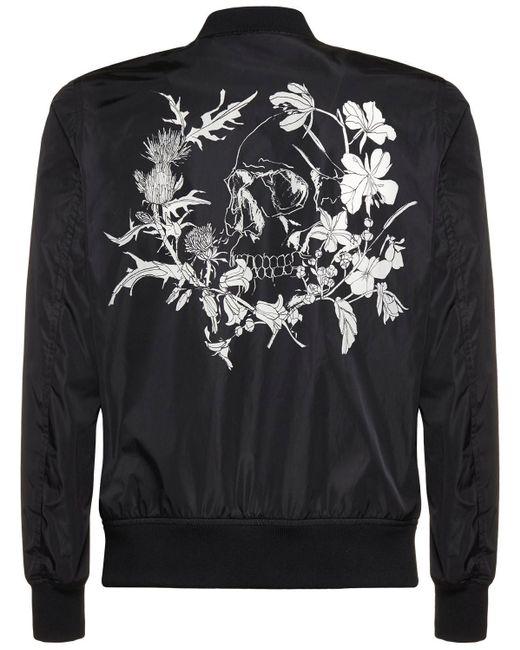 メンズ Alexander McQueen ナイロンカジュアルジャケット Black