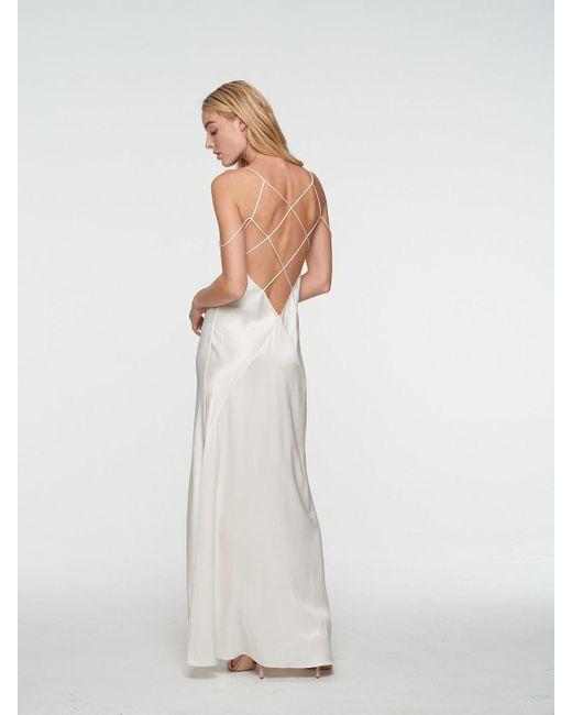 Платье Миди Из Атласа Kiki de Montparnasse, цвет: White