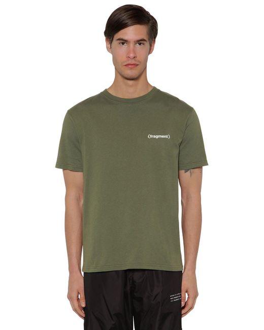 メンズ Moncler Genius Fragment コットンジャージーtシャツ Green
