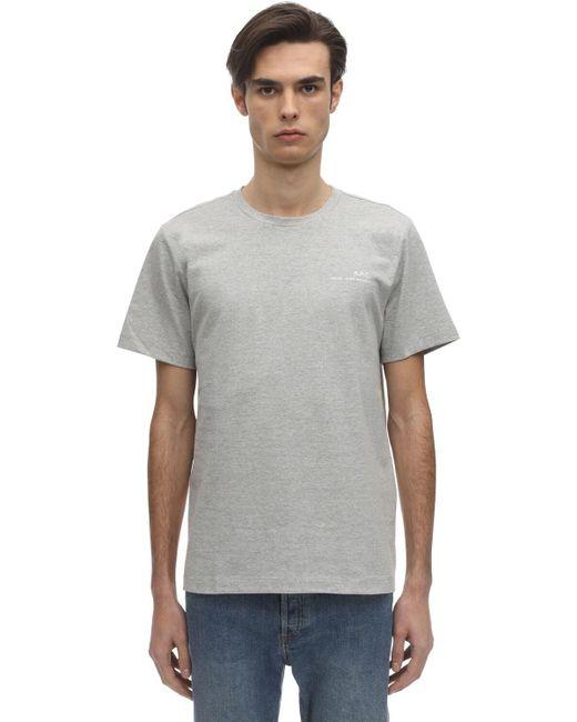 メンズ A.P.C. コットンジャージーtシャツ Gray