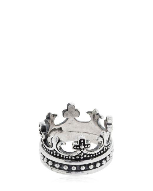 "Cantini Mc Firenze - Metallic Anillo ""crown"" for Men - Lyst"