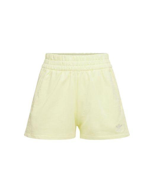 Adidas Originals 3 Stripes コットンショートパンツ Yellow