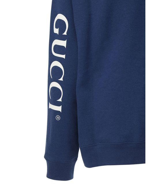 メンズ Gucci コットンスウェットフーディー Blue