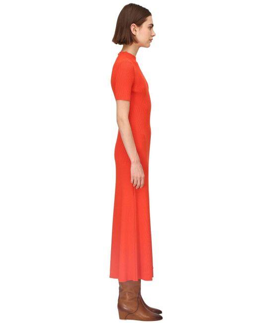 Gabriela Hearst Lvr Sustainable ウールリブニットドレス Orange