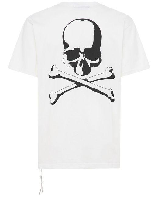 メンズ MASTERMIND WORLD カラーコットンtシャツ White