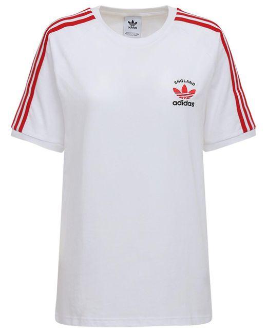Adidas Originals 3-stripes England Tシャツ White