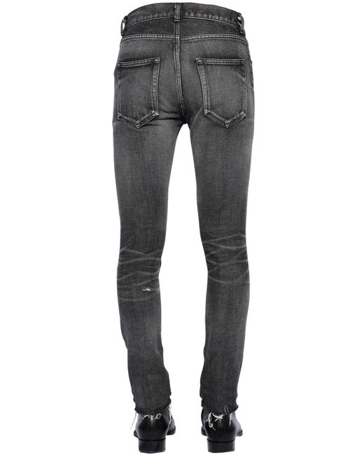 メンズ Saint Laurent 15cm ローライズスキニーデニムジーンズ Black