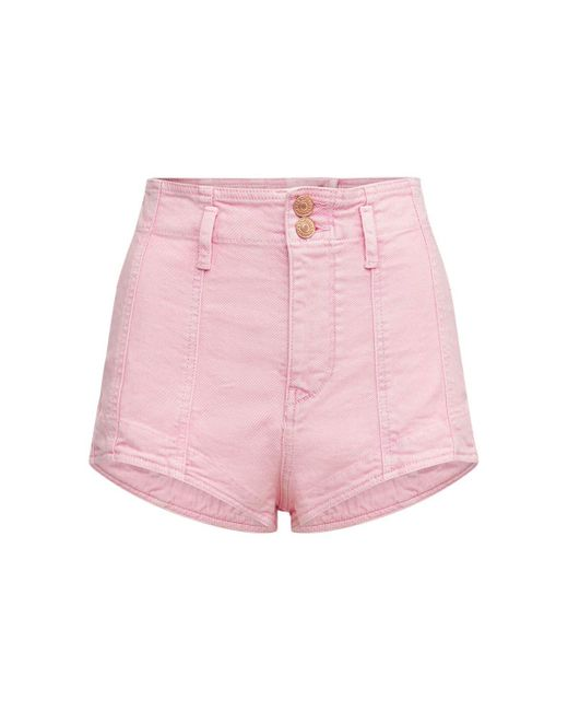 Isabel Marant Deversonbb ストレッチデニムショートパンツ Pink