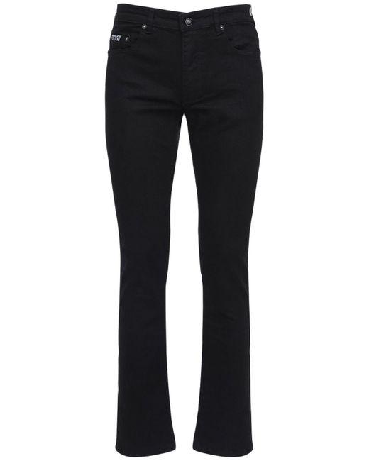 メンズ Versace Jeans コットンデニムパンツ Black