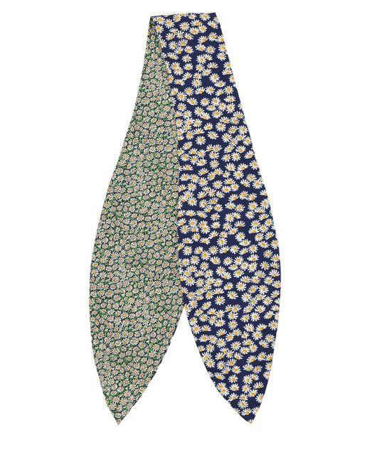 Lanvin Twilly デイジープリントシルクスカーフ Multicolor