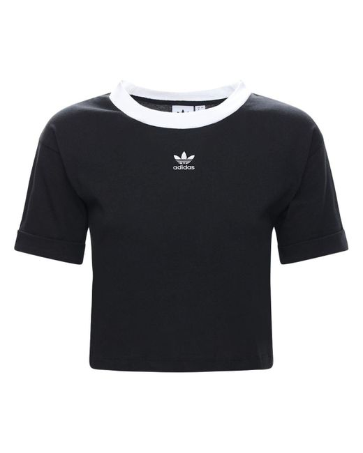 Adidas Originals Essential 3s ストレッチコットンレギンス Black