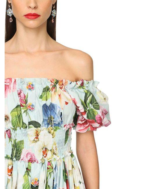 Dolce & Gabbana コットンポプリンミニドレス Multicolor