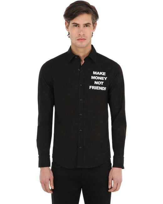 MAKE MONEY NOT FRIENDS Baumwollhemd Mit Logodruck in Black für Herren