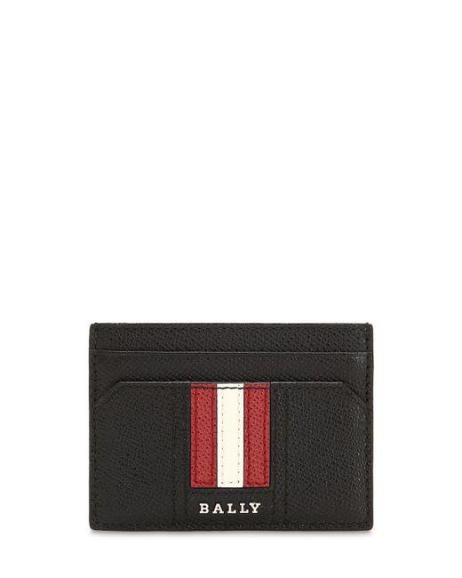 Кожаная Кредитница С Логотипом Bally для него, цвет: Black