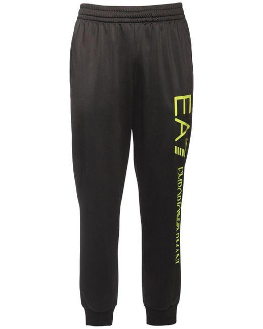 メンズ EA7 ナイロンスウェットパンツ Black