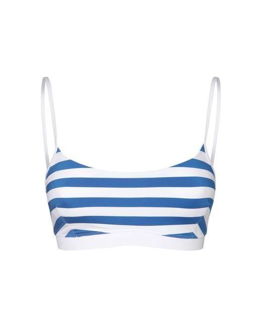Max Mara Blue Striped Bikini Top