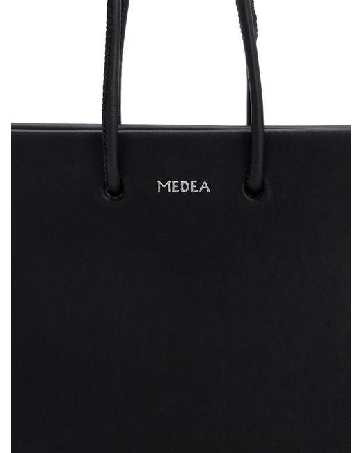 MEDEA レザートップハンドルバッグ Black