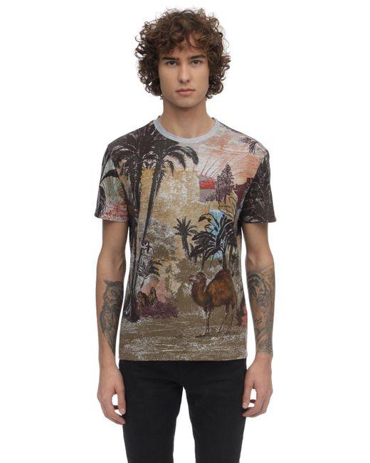 メンズ Etro コットンジャージーtシャツ Multicolor
