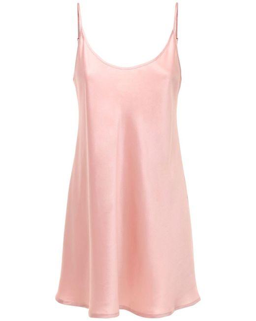 La Perla シルクローブミニドレス Pink