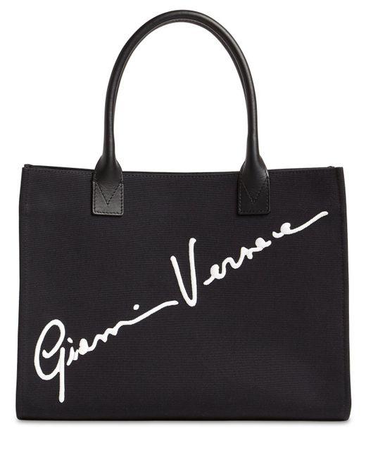 Versace ブラック Cabas Gv シグネチャ トート バッグ Black