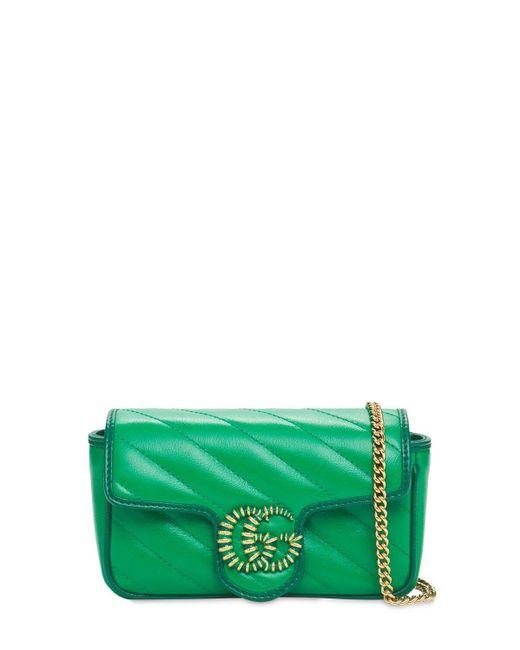 Gucci Gg Marmont Matelassé Super Mini バッグ Green