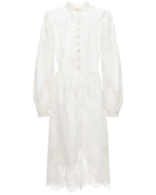 Temperley London コットンブレンドレースドレス White