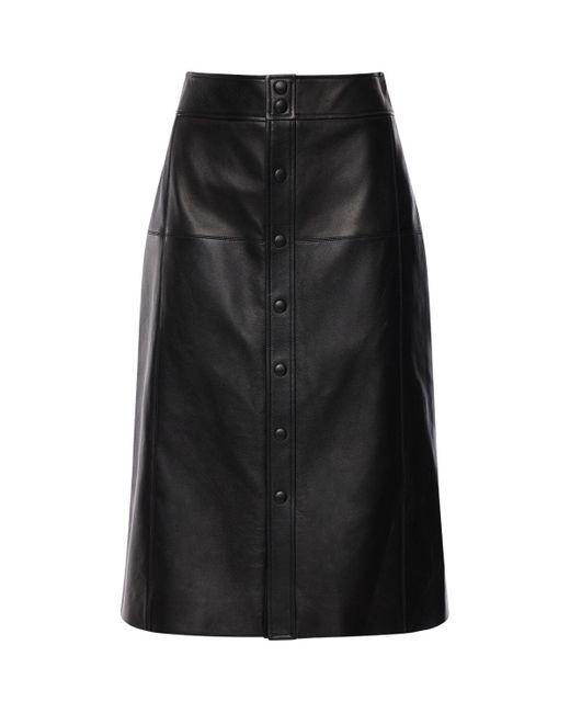Saint Laurent レザースカート Black