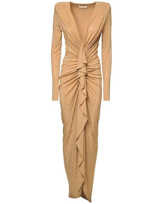Платье Из Джерси С Драпировкой Alexandre Vauthier, цвет: Metallic