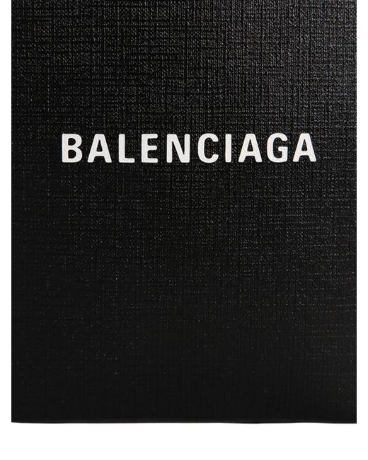 Balenciaga Shopping レザースマートフォンホルダー Black