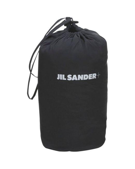 Jil Sander オーバーサイズフーデッドナイロンダウンコート Blue