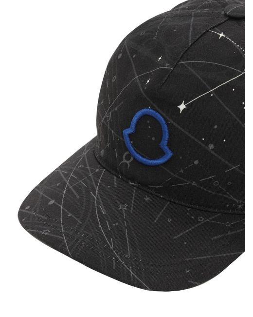 Cappello Baseball In Gabardina Di Cotone di Moncler in Gray da Uomo