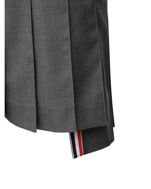 Thom Browne ウールプリーツミニスカート Gray
