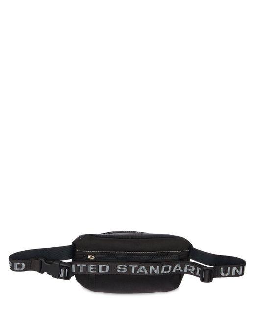 メンズ United Standard ナイロンベルトバッグ Black