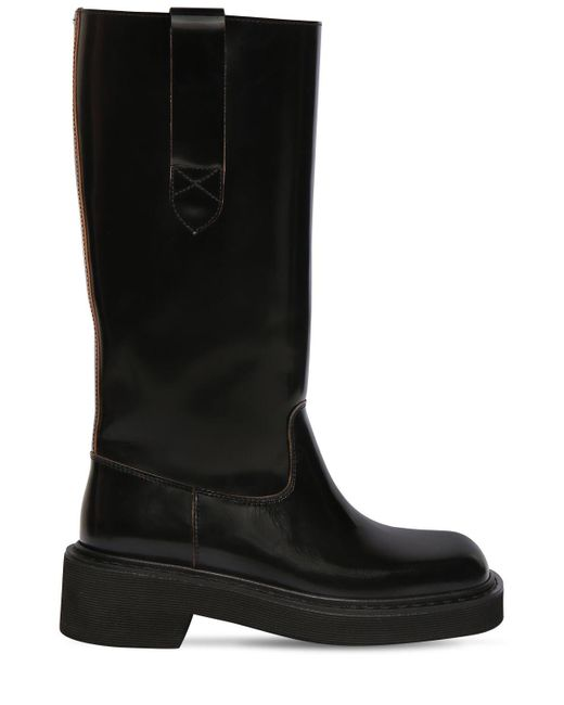 Кожаные Ботинки 40mm Maison Margiela, цвет: Black