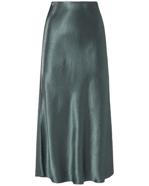 Юбка Миди Из Атласа Max Mara, цвет: Green