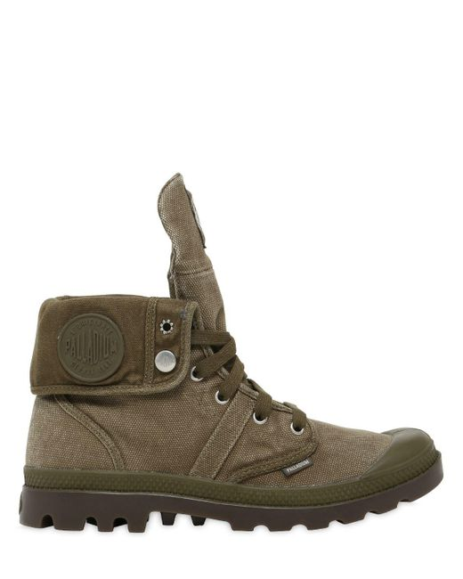 Palladium - Green Pallabrouse Baggy Washed Canvas Boots for Men - Lyst