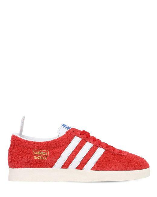 メンズ Adidas Originals Gazelle Vintage スニーカー Red