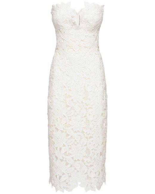 Ermanno Scervino コットン&レースドレス White