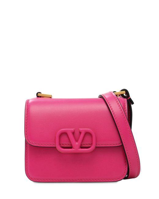 Кожаная Сумка Vsling Valentino Garavani, цвет: Pink