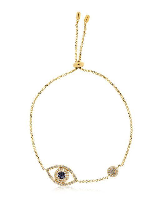 Apm Monaco   Metallic Éte Lucky Eye Yellow Silver Bracelet   Lyst