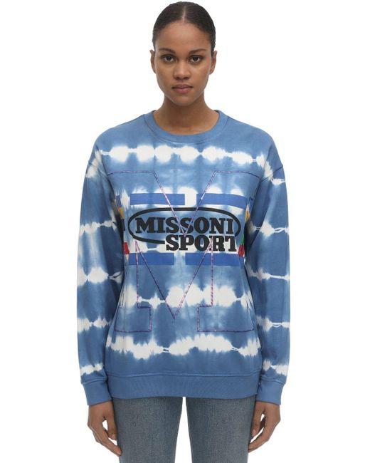 M Missoni コットンスウェットシャツ Blue