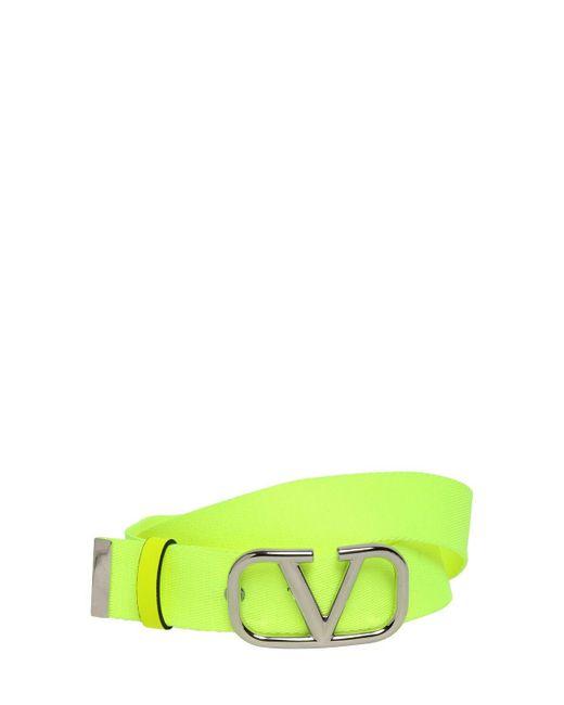 メンズ Valentino ウェビングベルト 30mm Green